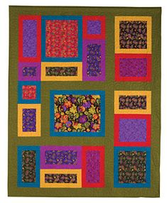Price: $9 download from ConnectingThreads.com. The Great Frameup quilt by Grizzly Gulch Gallery.
