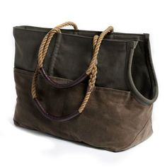 Travel in style with our Olive and Brown Waxed Cotton Canvas Dog Carrier! Hand-crafted dog bag with an earthy aesthetic and durable design Dog Purse, Dog Bag, Dog Carrier Bag, Small Pet Carrier, Dog Travel, Travel Bag, Lhasa Apso, Pet Carriers, Dog Accessories