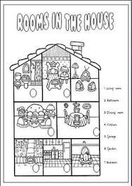 Free Worksheets For Kindergarten Parts Of The House With