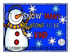 Classroom Management Idea for the Holidays. Inspire kindness in the classroom with this fun incentive! Classroom Management Idea for the Holidays. Inspire kindness in the classroom with this fun incentive!