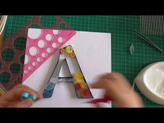 Quilling Tutorial - Letter A - Outline - YouTube