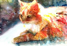 Cat Watercolor (by The Watercolor Guy)