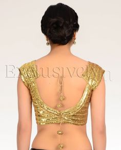 Golden Sequin Blouse - Exclusively In