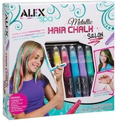 Unique-Gifts-For-Girls-Hair-Chalk-Kids-Set-Metallic-Color-Purple-Pink-Blue