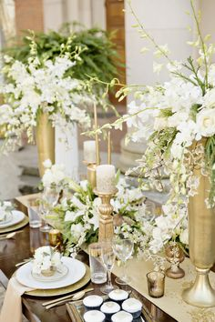 gold metallic and cream is a two toned palette that packs so much interest. it's simple yet has impact, whether for a refined elegant look, or a rich, opulent design.
