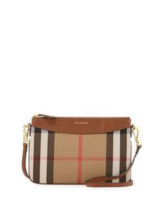 House Check Crossbody Bag, Tan by Burberry at Neiman Marcus. Burberry  Crossbody Bag, 31967a7a6b