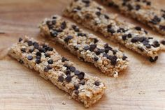 A Less Processed Life: Made From Scratch: Chocolate Chip Granola Bars with Dried Cherries and Shredded Coconut
