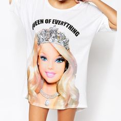 Asos Queen Of Everything Barbie Oversized Night Tee Dress Shirts For Women, Clothes For Women, Princess Barbie Dolls, Cute Princess, Summer Tshirts, Chic Dress, Unique Dresses, Barbie Clothes, Women's Fashion Dresses