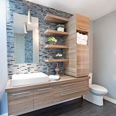 A bathroom revisited from A to Z – Bathroom – Before after – Decoration and renovation – Pratico Pratique Source by mairalucie House Bathroom, Bathroom Inspiration, Bathroom Design Luxury, Bathroom Interior, Bathroom Cabinets Designs, Bathrooms Remodel, Laundry In Bathroom, Bathroom Decor, Bathroom Layout