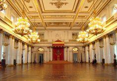 The Grand Throne Room, the Peterhof Palace, Peterhof, near Saint Petersburg, Russia