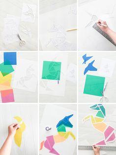 Un unicornio de colores de papel | Decorar en familia | DEF Deco