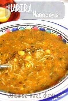 Harira la soupe marocaine, recette de Sousoukitchen aux légumes secs. Cette harira fassia est très consommée durant le Ramadan. Une soupe riche et