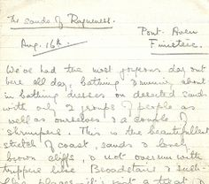 The last letter, written in pencil from the beach at Finistère in August 1919 - Liberty Silk, page 44