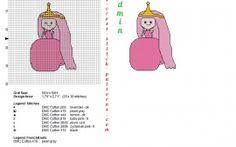 Princesse Chewing-Gum  Adventure Time point de croix