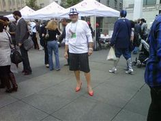 Keith striking a pose for last year's Walk A Mile in Her Shoes. Looking forward to this year's event!