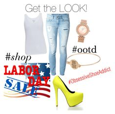 """""""Labor Day Sale"""" by obsessiveshoeaddict on Polyvore featuring Majestic and Dondup"""
