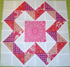 X Marks the Spot block tutorial by sewcraftyjess, via Flickr