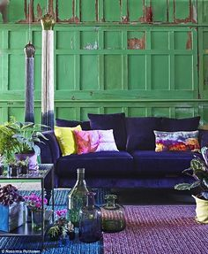 Image result for rooms with green couches