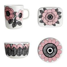 Marimekko, Home Textile, Textile Design, Diy Tableware, Muse Art, China Art, Scandinavian Home, Ceramic Painting, Inspired Homes