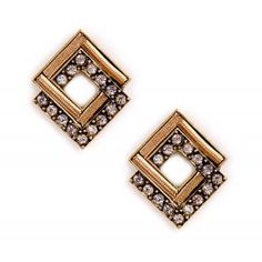 Cutout Pave Stud Earrings