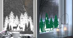 Perché non decorare anche le finestre di casa con gli adesivi natalizi? Un'idea briosa per comunicare pure all'esterno la bellezza del Natale che regna tra... Home Decor, Wood Trunk, Homemade Home Decor, Interior Design, Home Interior Design, Decoration Home, Home Decoration