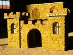 Castillo para el Belen - CASTLE FOR THE BETHLEHEM - YouTube Military Diorama, Nativity, Bookends, Miniatures, Diorama Ideas, Bethlehem, Home Decor, Models, Youtube