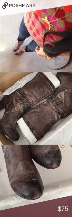 Frye Miranda slouch boots Very comfy for me. There are some signs of wear, please see photos. Comes with original box. Frye Shoes Ankle Boots & Booties