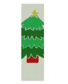 Christmas tree peyote pattern,done in different shades of green,  the peyote cuff are (2in x 7in)