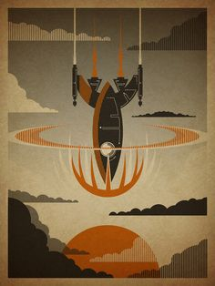COOOOOL rocket print for a kid's room or a man cave. Or a geek gal's cave. ;o)