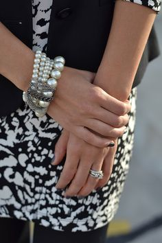 #howtowear pearls - create some pearly arm candy! #annalouoflondon #inspiration
