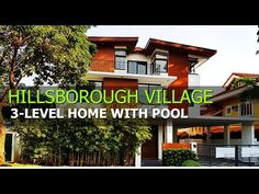 Modern Tropical Home With Swimming Pool in Hillsborough, Muntinlupa City Modern Tropical, Tropical Houses, Level Homes, Real Estate Houses, Pool Houses, Philippines, Swimming Pools, New Homes, City