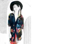 Chapeau, skirt and necklace by Marlene Birger, silk jacket by Oskar Metsavaht and belt by Eva Blut.