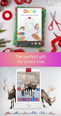 Osmo has reimagined the learning experience for kids. With Osmo, they can play outside the screen of their iPad with friends, family, or alone at their own speed. The best part is that Osmo is customizable for almost any learning experience! Makes the perfect holiday gift for any kid who loves to learn and play.