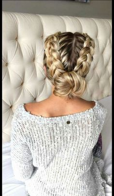 Wedding hair maybe with some pearls woven in!