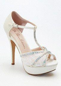 White Silver High Heels