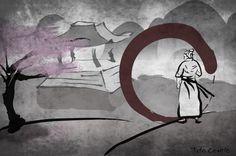 Samurai con Illustrator