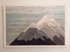 mountain artwork made from wood - Google Search