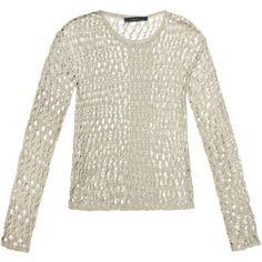 Velvet Tianna crochet sweater ($90) ❤ liked on Polyvore
