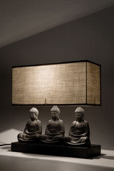 Table Lamp Sitting Buddha Rectangular