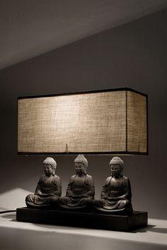 Table Lamp Sitting Buddha Rectangular