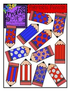 Free Patriotic Pencil Clipart from Creative Clips by Krista Wallden. Personal and commercial use :) Enjoy! Classroom Clipart, Classroom Themes, Classroom Labels, Pencil Clipart, Cool Fonts, Fun Fonts, Beginning Of School, Presidents Day, Teaching Art