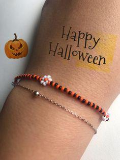 Halloween BraceletSunflower Beaded Daisy Bracelet Seed Bead | Etsy