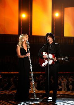 Miranda Lambert and Billie Joe Armstrong perform on the 56th Annual GRAMMY Awards on Jan. 26 in Los Angeles