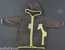 Veste zippée capuche peignoir éponge noir vert girafe Pericles 4 ans garçons