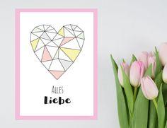 Free Printable: Last Minute Muttertagskarte