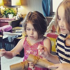First comes the peanut butter #birdfeeder during our monthly group Mother-Daughter activity.