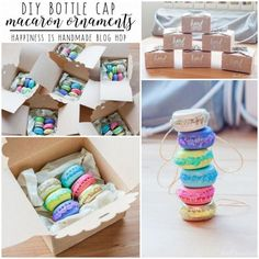 DIY Macaron Ornament Tutorial from Dwell Happiness.I thought...