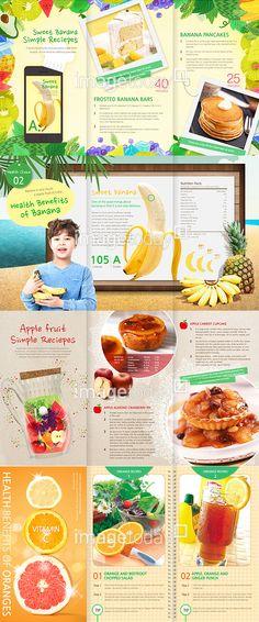 이미지투데이 건강 다이어트 과일 미소 뷰티 비타민 사람 신선 바나나 어린이 파인애플 음식 디저트 브로셔 브로슈어 리플렛 자몽 주황색 imagetoday health diet fruit smile beauty vitamin dessert brochure leaflet orange pineapple fresh banana child Brochure Template, Flyer Template, Banana Bars, Fruit Packaging, Magazine Layouts, Apple Fruit, Banana Pancakes, Commercial Design, Print Design