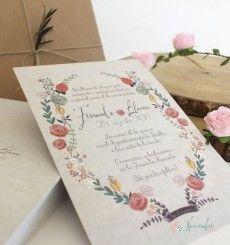 """Invitación """"Jardín Vintage"""""""