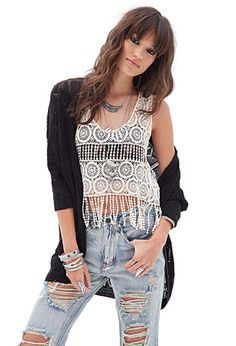 Ornate Crochet Top | FOREVER21 - 2000129940